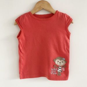 Carter's Just One You 100% Cotton Monkey Tee 3T